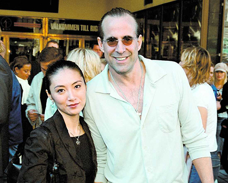 Toshimi Stormare with her husband