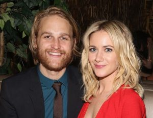 Wyatt Russell and her wife, Meredith Hagner