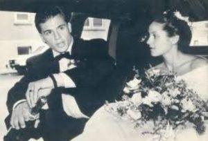 Steve Yzerman and Lisa Brennan on their big day