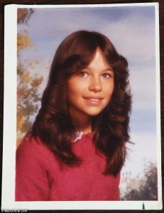 Picture of Pamela when she was in her teens.
