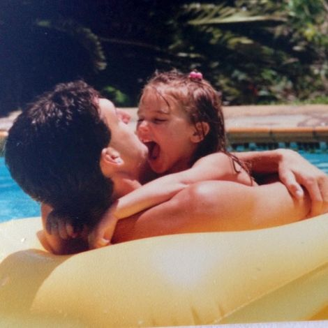 Yael Cohen with her dad