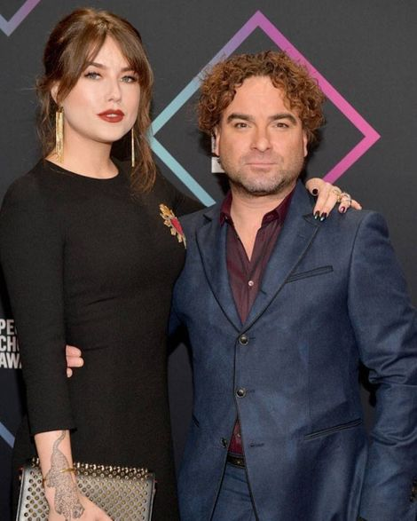 Alaina Meyer with her boyfriend Johnny Galecki,