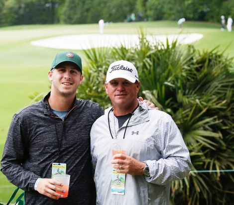 Jared Goff and his father