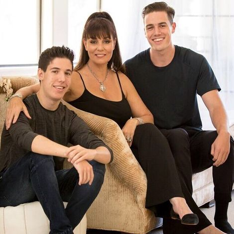Brenda Cooper and her sons