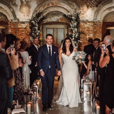 Brynn Gingras and her husband walked down the asile in 2019