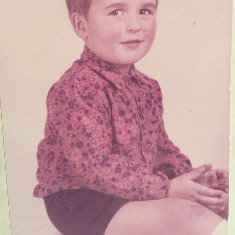 Jonathan Cake during his childhood days