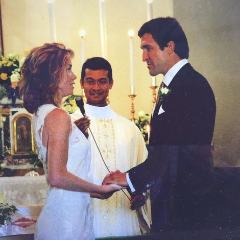 Jonathan and Nicholson exchanging thier wedding vows