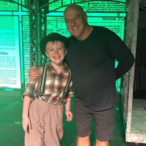 Dean Norris with his youngest son