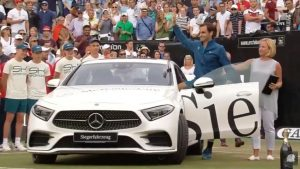 Mirka wife posing with his New Mercedez.