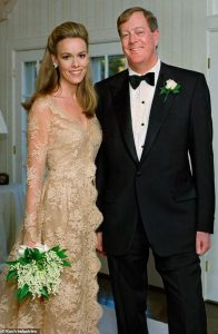 Julia during her marriage day with husband David.