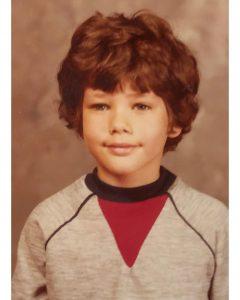 Darren Le Gallo in his childhood.