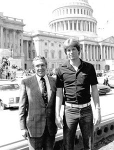 John Thune with former SenatorJim Abdnor after completing his college.