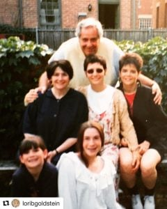 Lori Goldstein with her father and siblings