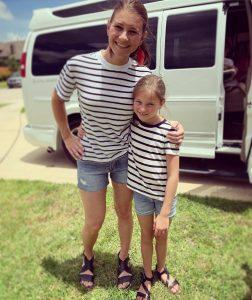 Danielle with her eldest daughter Blayke Louise.