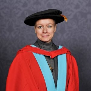 Samantha Morton after receiving a Doctorate from Nottingham.