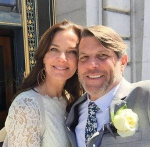 Adam Nimoy with his current wife, Terry Farrell