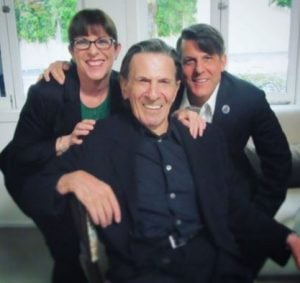 Adam Nimoy with his late father, Leonard Nimoy and sister, Julie Nimoy