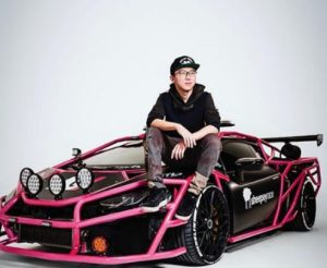 Alex Choi with his UNICORN V3 Lamborghini