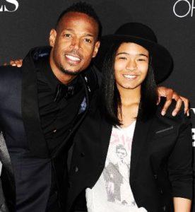 Amai Zackary with her father, Marlon Wayans
