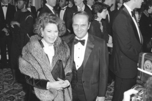 Ginny Newhart and Bob Newhart Black and White