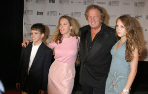 Don McLean with his second and former wife Patrisha Shnier and children Jackie and Wyatt in an award ceremony