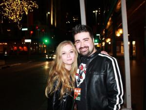 Joe and his ex-girlfriend Purrluna