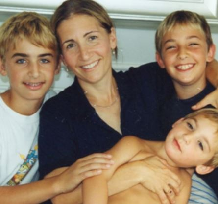Bobbi Brown and her three sons