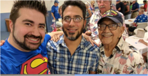 Joe Vargas with his father and grandfather