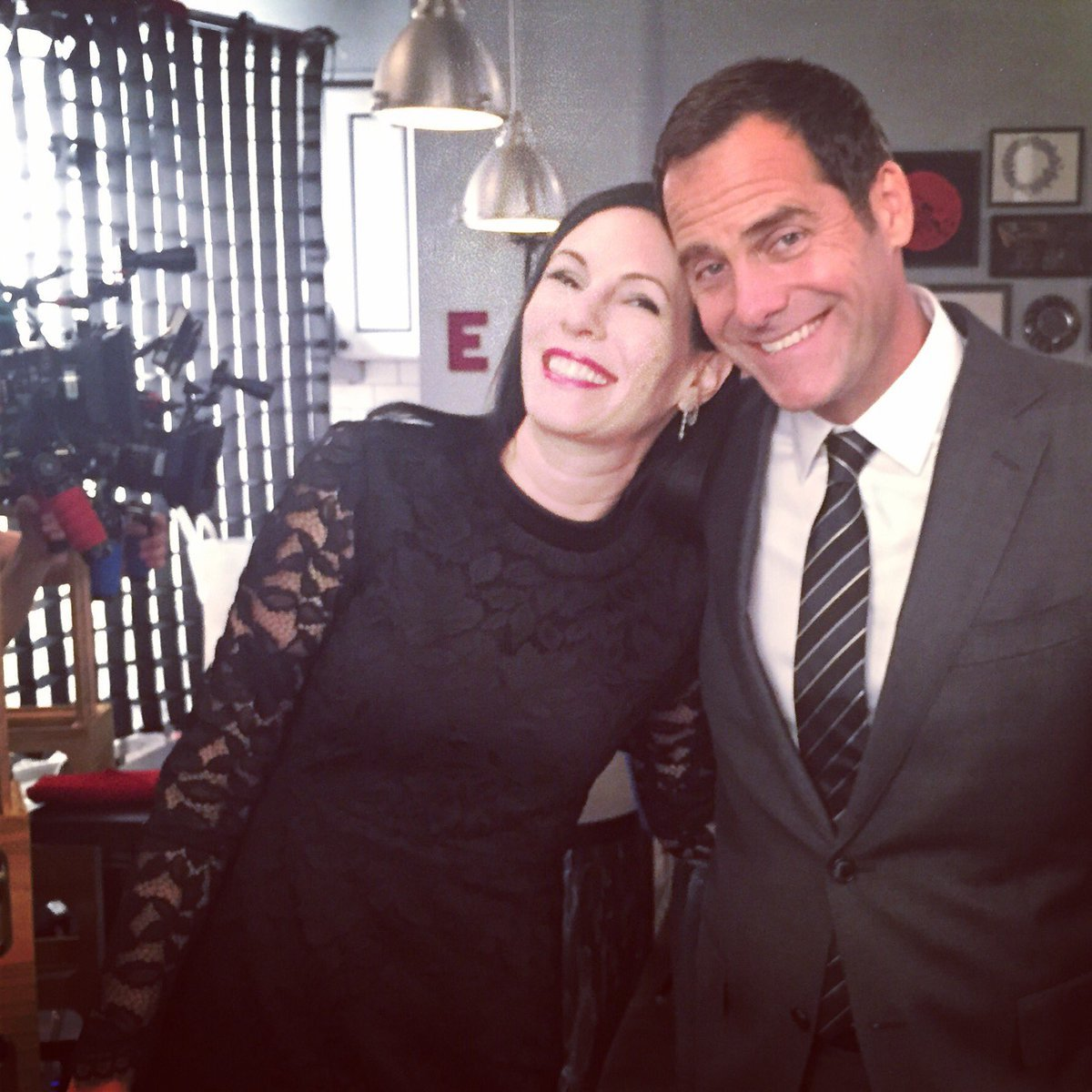 Andy Buckley with his wife Nancy