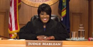 Judge Mablean in a Show