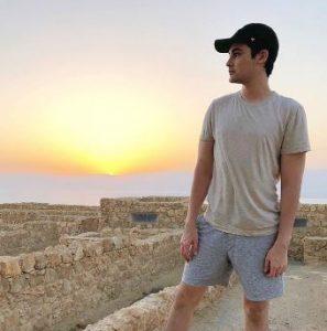 Lorenzo Doryon enjoying sunrise in Masada, Israel