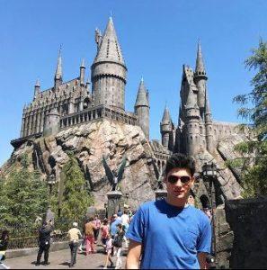 Lorenzo at the Universal Studios Hollywood