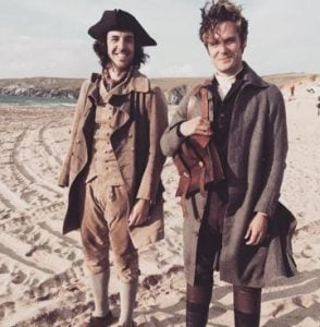 Luke shared a picture of the set of Poldark