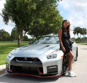 Naomi Osaka flaunting her new car, Nissan