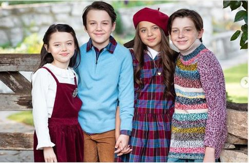Violet McGraw and her siblings