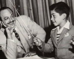 Noel Blanc in his childhood with his late father, Mel Blanc