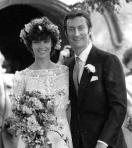 Rachel Ward on the day of her wedding with husband, Bryan Brown