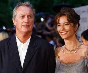 Rachel Ward with her spouse, Bryan Brown