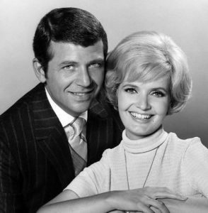 Robert Reed with his co-star and friend, Florence Henderson