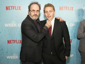 Jared during the Netflix premiere alongside humorist Robert smigel.