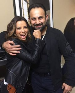 Roman Mitichyan with actress, Eva Longoria