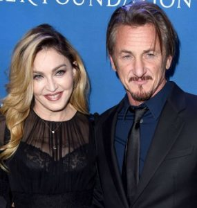 Sean Penn with his first and former wife, Madonna Louise Ciccone
