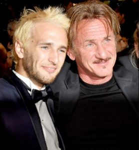 Sean Penn with his son, Hooper Jack during an event
