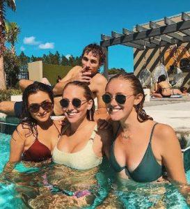Skylar Piela enjoying with her friends