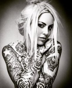 The inked body of Mixi Demner