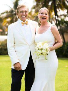 Albert with his bride Lisa Neimi.
