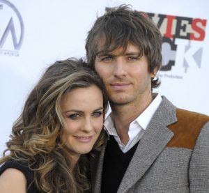 Actress Alicia Silverstone and Christopher Jarecki at the Conde Nast Media Group.