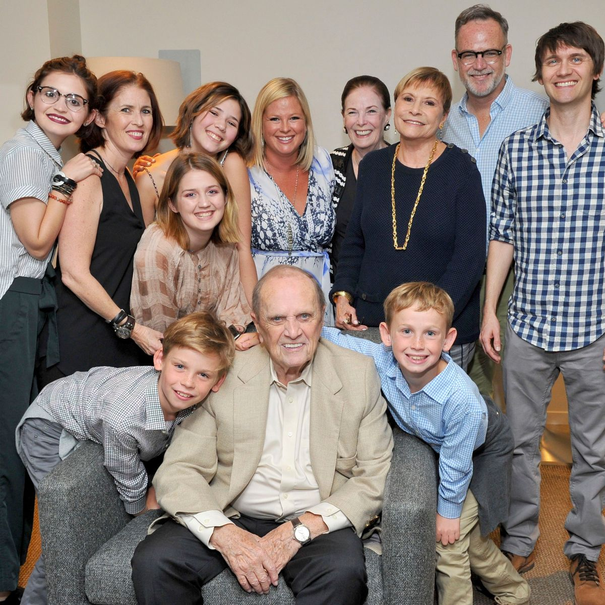 Bob Newhart and Ginny Newhart with their Children and Grandchildren