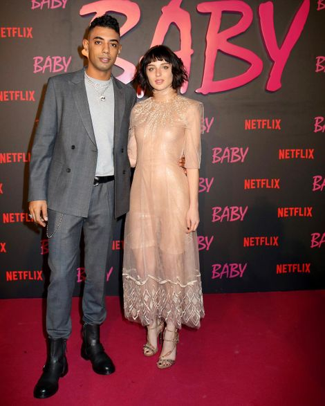 Alice Pagani with her boyfriend