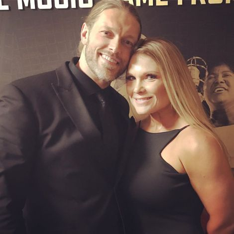 Beth Phoenix and her husband Edge
